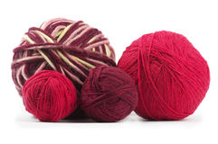 Four colored wool clews Stock Image