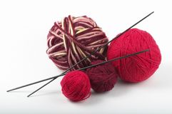 Four colored wool clews Stock Photography