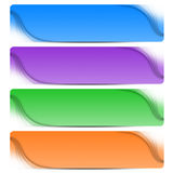 Four colorful abstract banners Royalty Free Stock Photos