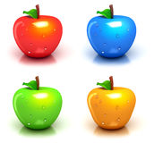Four colorful apples Royalty Free Stock Image