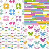 Four colorful backgrounds collection Stock Photography