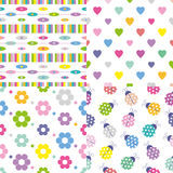 Four colorful backgrounds collection Stock Image