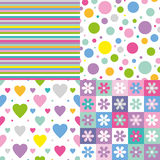 Four colorful backgrounds collection Royalty Free Stock Images