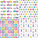 Four colorful backgrounds collection Stock Images