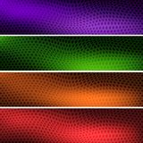 Four colorful backgrounds headers for your site royalty free illustration