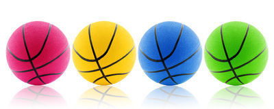 four colorful balls. Stock Photo