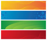 Four colorful banners Stock Image