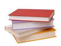 Four colorful books royalty free stock image
