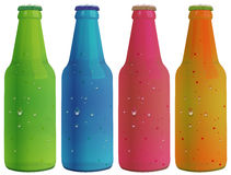 Four colorful bottles Stock Photo