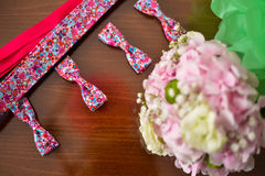 Four colorful bow ties Royalty Free Stock Images