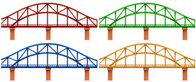 Four colorful bridges. Illustration of the four colorful bridges on a white background vector illustration