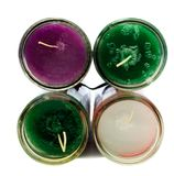 Four Colorful Candles Stock Images