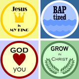 Four colorful Christian logo. Four colorful Christian and church logo and emblem Stock Image
