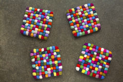 Four colorful cubes for a gome design Stock Images