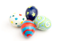 Four Colorful Easter Eggs Stock Photo
