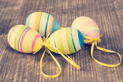Four colorful easter eggs Stock Images