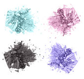 Four colorful eyeshadow cosmetic products Royalty Free Stock Photography