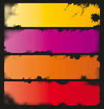 Four Colorful Grunge Banners Stock Photo