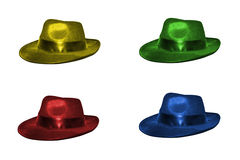 Four colorful hats royalty free stock photos