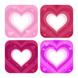 Four colorful hearts. Set of four colorful heart designs Royalty Free Stock Photos