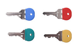 Four colorful keys Stock Images