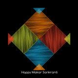 Four colorful kites, makarsankranti concept Royalty Free Stock Photo
