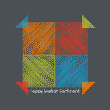 Four colorful kites nearby, makarsankranti concept Royalty Free Stock Image