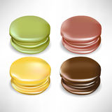 Four colorful macaroons Royalty Free Stock Photography