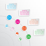 Four colorful options of infographics Royalty Free Stock Photography