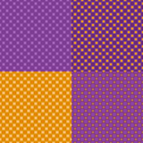 Four colorful seamless abstract backgrounds. Royalty Free Stock Images