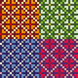 Four colorful seamless patterns Royalty Free Stock Photos