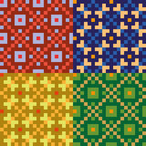 Four colorful seamless patterns Stock Photo