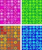 Four colorful seamless wallpapers vector Royalty Free Stock Photo