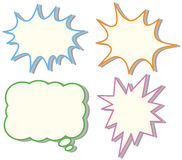 Four colorful speech bubble templates Royalty Free Stock Photo
