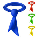 Four colorful tie. Stock Images