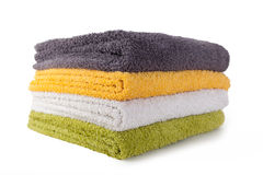 Four colorful towels Royalty Free Stock Image