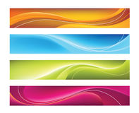 Four colorful vector banners Stock Photography
