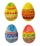 Four colorful watercolor Easter Eggs for your design Royalty Free Stock Image