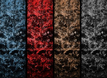 Four colorful waterfall Royalty Free Stock Images