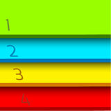 Four colorored stages (options) Stock Photo