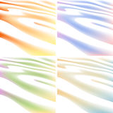 Four colors backgrounds of waving line Stock Images