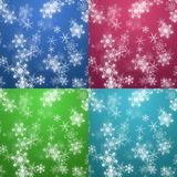 Four colors Christmas background Stock Photography