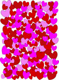 Four colors hearts background Royalty Free Stock Photo
