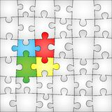 Four colors puzzle background Royalty Free Stock Photos