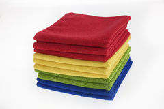 Four colors of towels/ rags Royalty Free Stock Photo