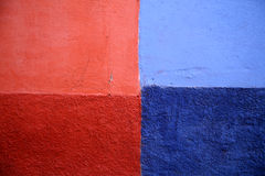 Four colors wall abstract Royalty Free Stock Image