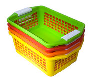 Four colour baskets Stock Photography