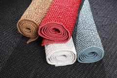 Four colour of carpet Royalty Free Stock Image