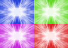 Four Colour Flash Background Stock Images