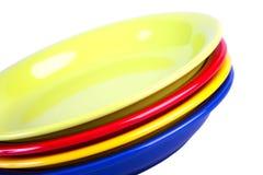 Four colour plates Royalty Free Stock Photo